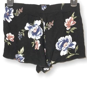 Kendall and Kylie Floral Short Fabric Shorts XS